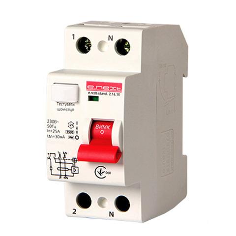 Выключатель дифференциального тока Enext stand.2.40.30 2р 40А 30mA