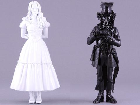 Алиса в Стране Чудес фигурки Алиса и Шляпник черно белый Эксклюзив
