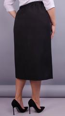 Нинель. Офисная юбка плюс сайз. Черный.