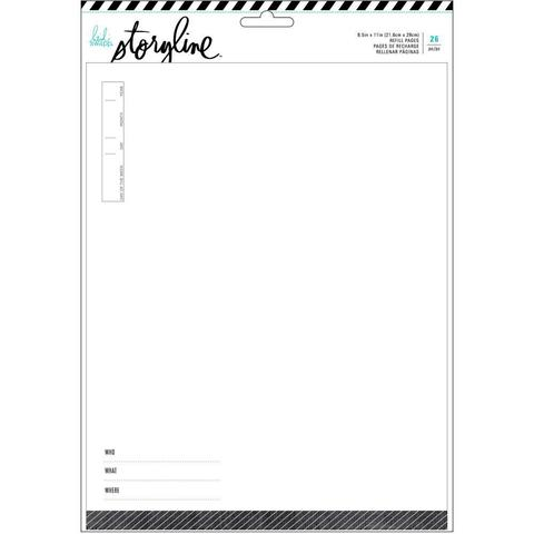 Набор файлов с вкладышами. Для альбомов 22х28 см. Heidi Swapp Storyline2 Refill Pack