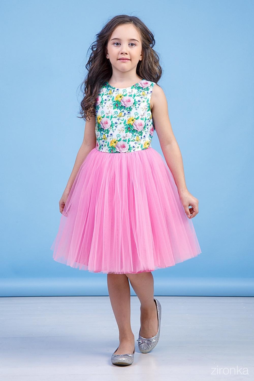 Платье розовое для девочки 38-8032-3