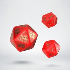 RuneQuest Red & gold Expansion Dice (3)