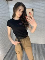 черная футболка с коротким рукавом интернет магазин