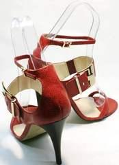 Модные босоножки женские с закрытой пяткой Via Uno1103-6605 Red.