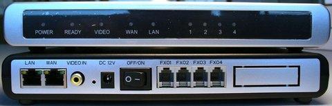 Grandstream GXW4104 - IP шлюз. 4xFXO, 1xLAN, 1xWAN, 100Mbit/s