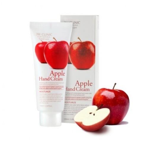 3W CLINIC Крем для рук увлажняющий с экстрактом ЯБЛОКА Apple Hand Cream, 100 мл