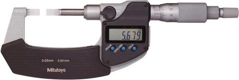 Цифровой микрометр для измерения пазов