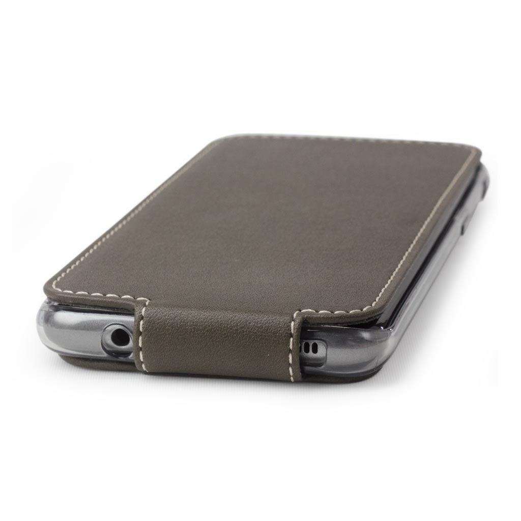 Чехол для Samsung Galaxy S8 из натуральной кожи теленка, цвета хаки