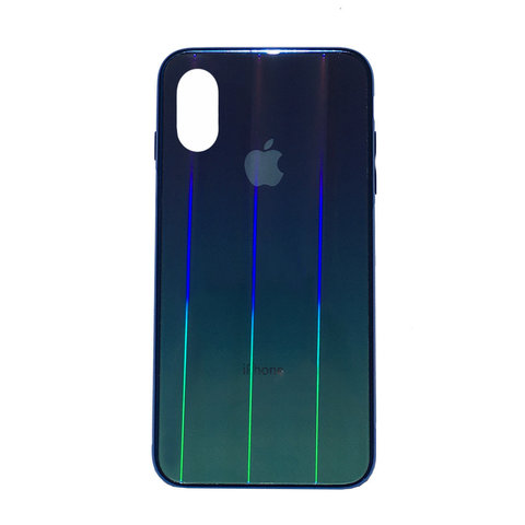 Чехол iPhone X/XS Glass Shine Case Logo /black/