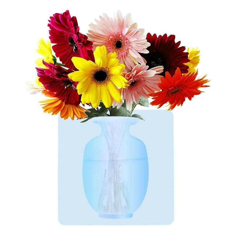 Уют в доме Силиконовая настенная ваза для цветов Волшебная ваза silikonovaya-nastennaya-vaza-dlya-cvetov.jpg