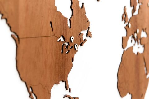 Карта мира Wall Decoration Exclusive 180х108 cm (Африканское Сапеле)