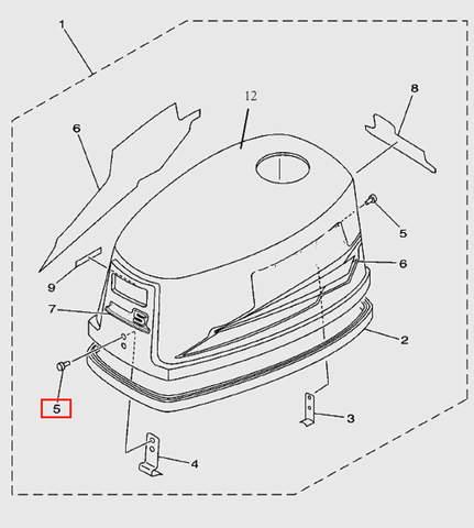 Штифт 4х10 для лодочного мотора T5 Sea-PRO (1-5)