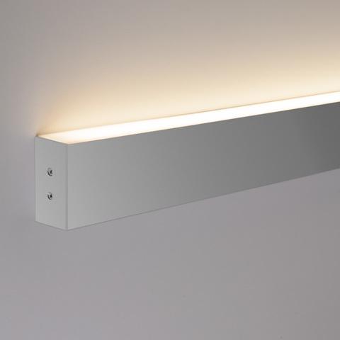 Линейный светодиодный накладной односторонний светильник 78см 15Вт 4200К матовое серебро LS-02-1-78-4200-MS