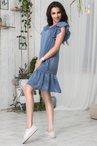 Летнее платье с воланами 1