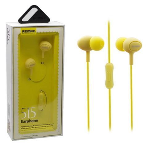 Гарнитура Remax 515 yellow (ORIGINAL)