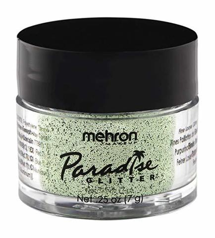 MEHRON Рассыпчатые блестки Paradise Glitter, Pastel Green (Пастельный Зеленый), 7 г