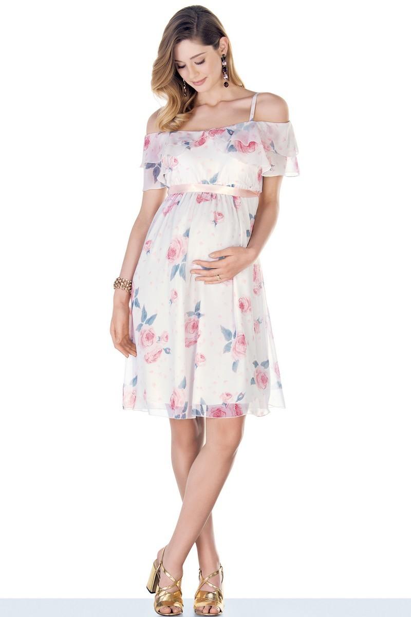 Платье для беременных 09533 цветы