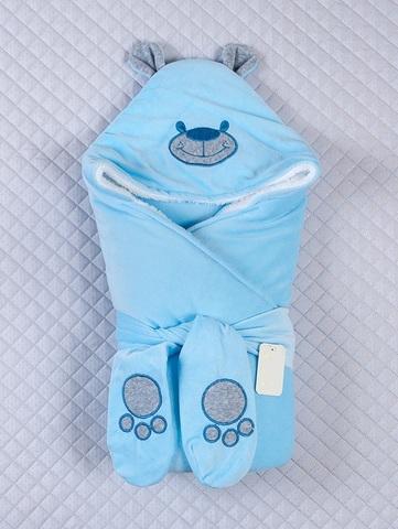 Конверт-одеяло Little Bear голубой