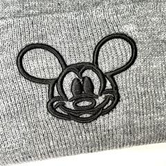 Вязаная шапка с вышивкой Микки Маус (Mickey Mouse) серая фото 2