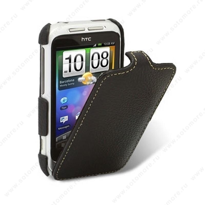 Чехол-флип Melkco для HTC Wildfire S Leather Case Jacka Type (Black LC)