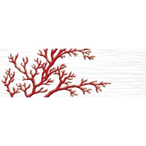 Декор Коралл белый 04-01-1-17-03-00-901-6  600х200х9