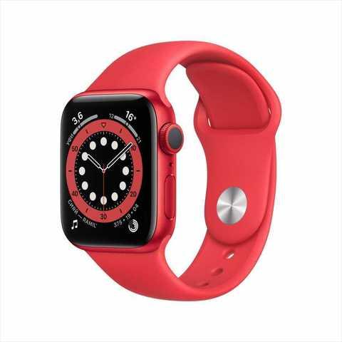 Apple Watch Series 6, 44 мм, корпус из алюминия цвета (PRODUCT)RED, спортивный ремешок красного цвета