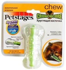 """Игрушка для собак Petstages """"Хрустящая косточка"""" резиновая 10 см малая"""