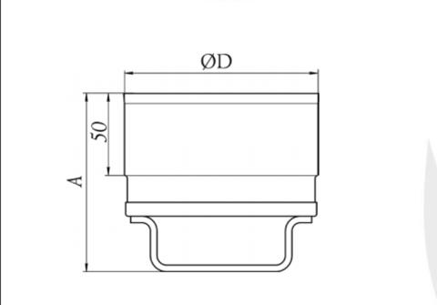 Заглушка, Ø115 мм