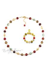 Комплект Carnavale Oro (ожерелье, золотистый браслет)