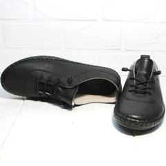 Кроссовки мокасины женские Evromoda 115 Black