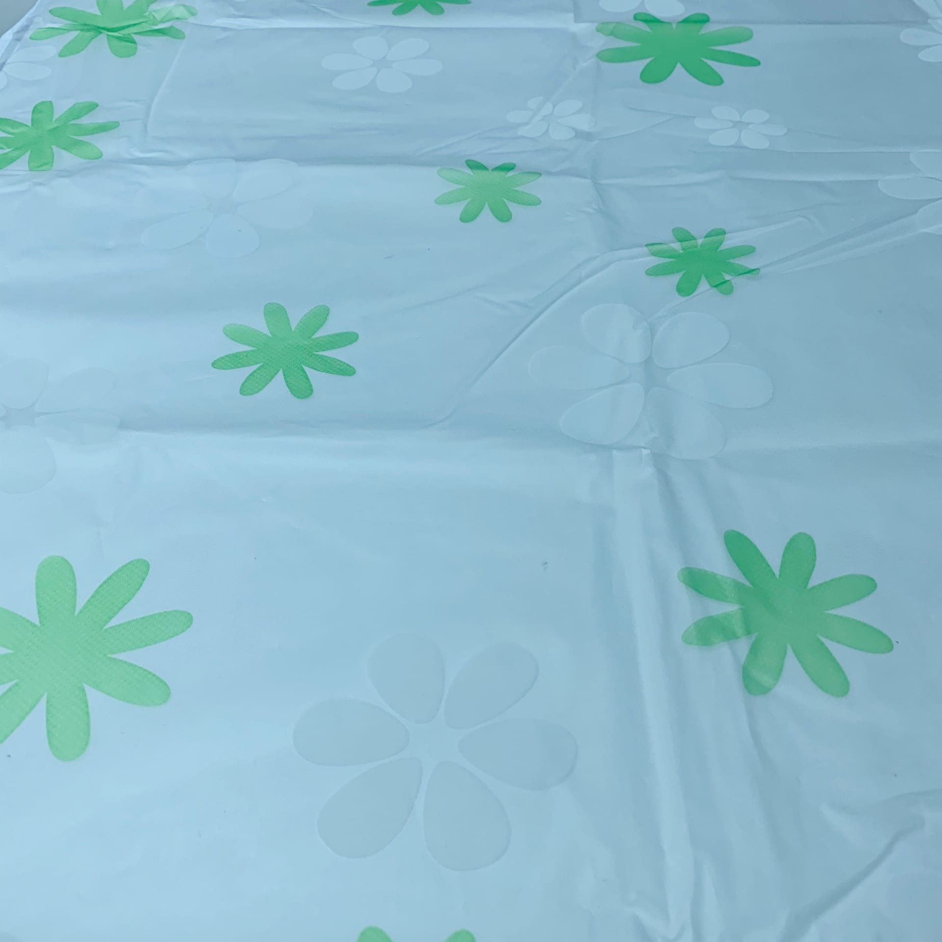 Чехол для стиральной машины 58х62х85 см Белый с зелеными цветами фото