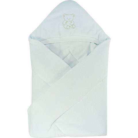 Папитто. Конверт-одеяло велюр с вышивкой, белый