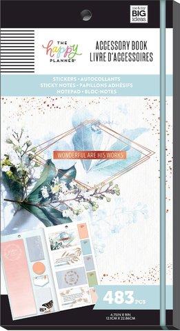Блокнот со стикерами и стекерблоками Accessory Book - Faith - 483 шт
