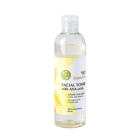 Тоник для нормальной кожи лица с AHA-кислотами | 250 мл | Organic Zone