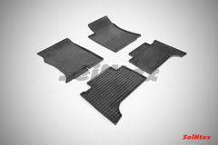 """Резиновые коврики """"Сетка"""" для Toyota Land Cruiser Prado J120"""