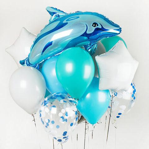 Фонтан Дельфин по волнам