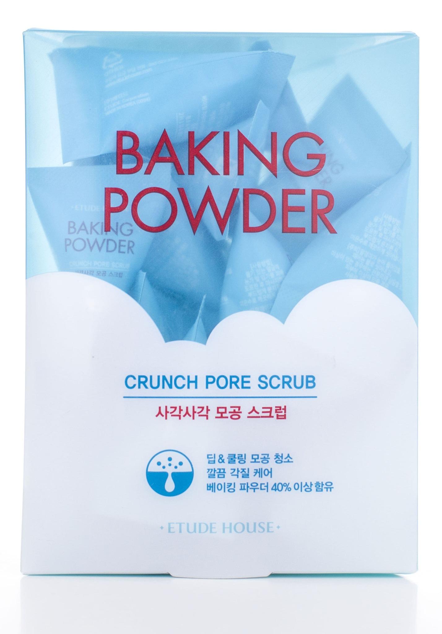 Мягкий скраб для очищения кожи лица с содой - Etude House Baking Powder Crunch Pore Scrub