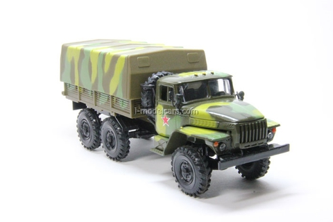 Ural-4320 with awning camouflage Elecon 1:43