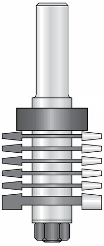 Комплект фрез под соединение минишип 33x5,75 мм D39,5 хвостовик 12 DIMAR 1089009