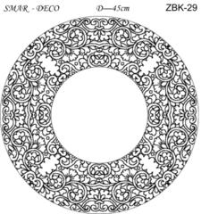 Эскиз для росписи, Зеркало диаметр-45см, SMAR-ZBK-29
