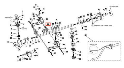 Кронштейн вращающийся  для лодочного мотора T2 SEA-PRO