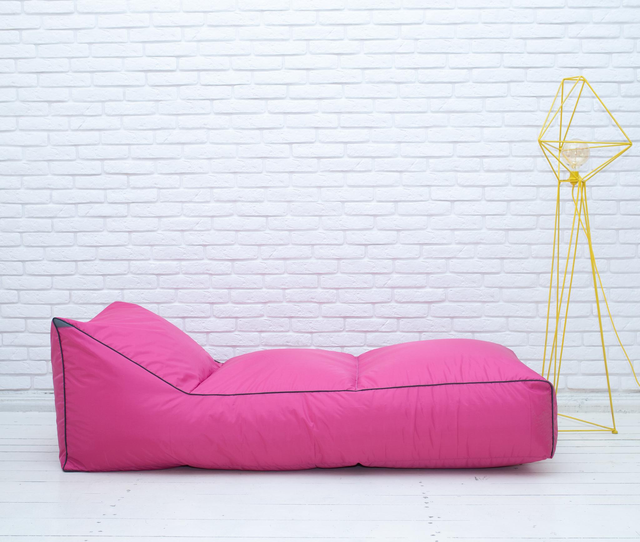 Шезлонг плащёвка (розовый)