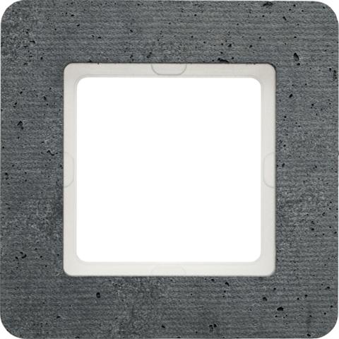 Рамка на 1 пост бетон текстурированный. Цвет Естественный. Berker (Беркер). Q.7. 10116020
