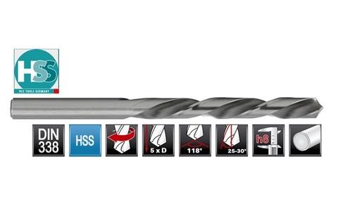 Сверло по металлу ц/x 1,0x34/12мм (LH-Левостороннее) DIN338 h8 5xD HSS-G 135° HSS-Tools 1720-1010