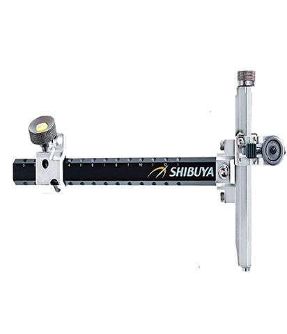 Прицел для лука спортивного Shibuya Sight 485-9 Ultima II RC Recurve Carbon Silver