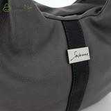 Сумка Саломея 890 серый + черный
