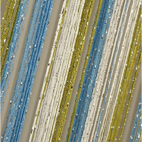 Шторы радуга дождь - Белые, голубые, оливковые. Ш-300см., В-280см. Арт.1-11-19