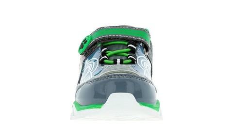 Светящиеся кроссовки Щенячий патруль (Paw Patrol) на липучках для мальчиков, цвет серебристый. Изображение 2 из 5.