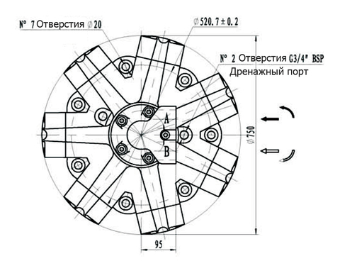 Гидромотор IPM9-5800