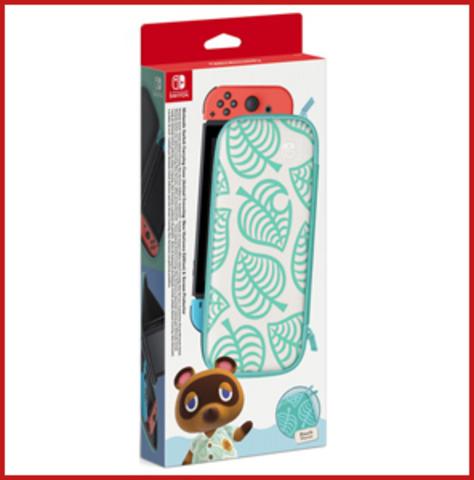 NS: Чехол в стиле Animal Crossing: New Horizons + защитная плёнка